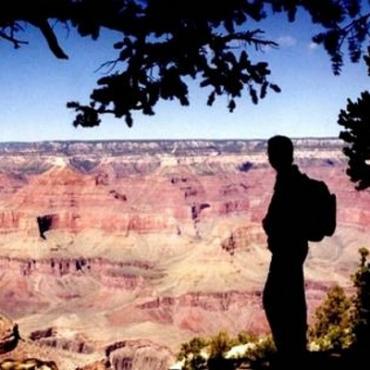AZ Grand Canyon view sillouhette