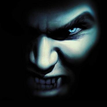 Scary vampire face