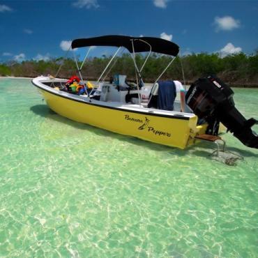 FL Keys boat & shoreline