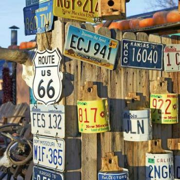Route 66 mix of signs