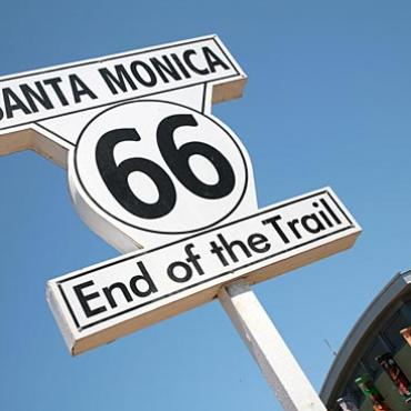 Rte 66 Santa Monica End of Trail sign.jpg