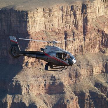 Helicopter over Canyon