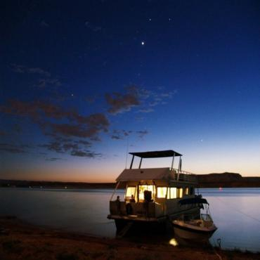Night time Houseboat Lake Mead