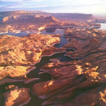 Aerial view Lake Powell