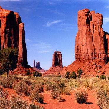 Red Rocks in Monument Valley
